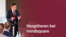 Unternehmer Ferdinando Piumelli spricht über das Hospitieren bei mindsquare