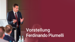 Unternehmer Ferdinando Piumelli wird vorgestellt